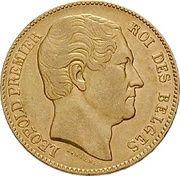 20 Francs - Léopold I – obverse
