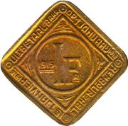 1 Frank - Albert I (Ghent - German Occupation Coinage) – reverse