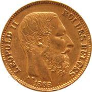 20 Francs - Léopold II (heavy coarser beard) – obverse