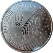 10 Euro (70 years of peace in Europe) – reverse