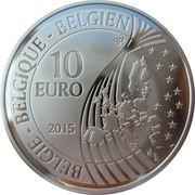 10 Euro (Bicentenary of battle of Waterloo) – obverse