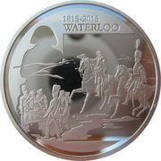 10 Euro (Bicentenary of battle of Waterloo) – reverse