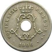 5 Centimes - Léopold II (Dutch text; large date) – obverse