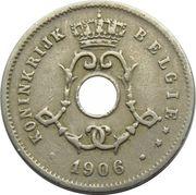 5 Centimes - Léopold II (Dutch text; large date) – obverse