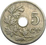 5 Centimes - Léopold II (Dutch text; large date) – reverse