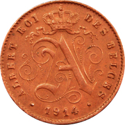 1 Centime - Albert I (French text) – obverse