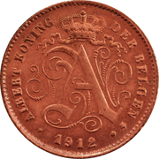 1 Centime - Albert I (Dutch text) – obverse