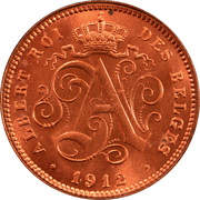 2 Centimes - Albert I (French text) – obverse