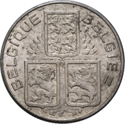50 Centimes - Leopold III – reverse