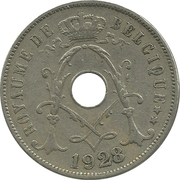 25 Centimes - Albert I (french text) – obverse