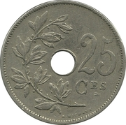 25 Centimes - Albert I (french text) – reverse