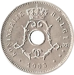 5 Centimes - Léopold II (Dutch text; small date) – obverse