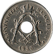 10 Centimes - Albert  I (Dutch text; with star) – obverse