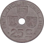 25 Centimes - Léopold III (BELGIQUE-BELGIE) -  reverse