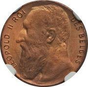 50 Centimes - Léopold II (Pattern Strike) – obverse