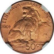 50 Centimes - Léopold II (Pattern Strike) – reverse
