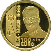 100 Euro - Albert II (Franc Germinal) – reverse