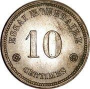 10 Centimes - Léopold I (Trial strike) – reverse
