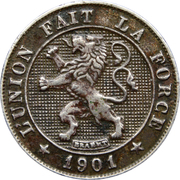 5 Centimes - Léopold II (French text) – obverse