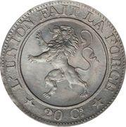 20 Centimes - Léopold I (Pattern) – reverse