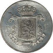 5 Francs - Léopold I (Pattern) – reverse