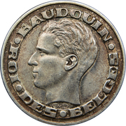 50 Francs - Baudouin I (French text; Brussels World's Fair 1958) -  obverse