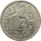 50 Francs - Baudouin I (Dutch text) – reverse