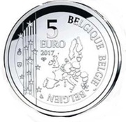 5 Euro - Philippe (1st Heart Transplant) – obverse
