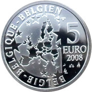 5 Euro - Albert II (Smurfs; colourized) – obverse