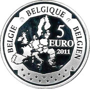 5 Euro - Albert II (Hélène Dutrieu) – obverse