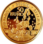 50 Euro - Albert II (Central Africa Museum) – reverse