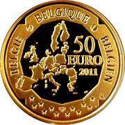 50 Euro - Albert II (Auguste Picard) – reverse