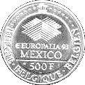 500 Francs - Albert II (Europalia 1993) – reverse