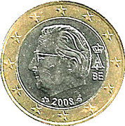 1 Euro - Albert II (2nd map, 2nd type, 2nd portrait) – obverse