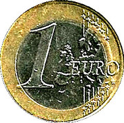 1 Euro - Albert II (2nd map, 2nd type, 2nd portrait) – reverse