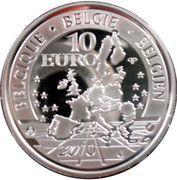 10 Euro - Albert II (Django Rheinhardt) – obverse