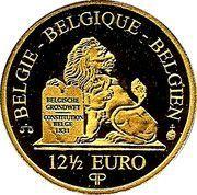 12½ Euro - Albert II (King Léopold I - Dynasty Anniversary) – reverse