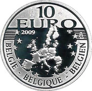 10 Euro - Albert II (75th Birthday of Albert II) – obverse