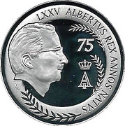 10 Euro - Albert II (75th Birthday of Albert II) – reverse