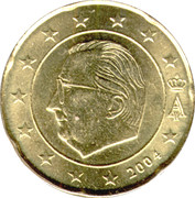 20 Euro Cent - Albert II (1st map, 1st type, 1st portrait) -  obverse
