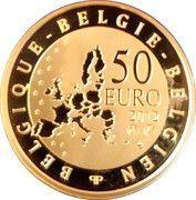 50 Euro - Albert II (Paul Delvaux) – reverse
