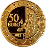 50 Euro - Albert II (Hugo Claus) – reverse
