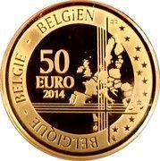 50 Euro - Albert II (Adolphe Sax) – reverse