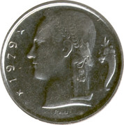 5 Francs - Baudouin I (French text) -  obverse
