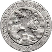 5 Centimes - Léopold II (Dutch text) – obverse