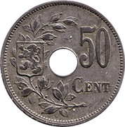 50 Centimes (German Occupation Coinage) – reverse