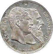 2 Francs - Léopold II (Independence) – obverse