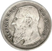 2 Francs - Léopold II (French text) – obverse