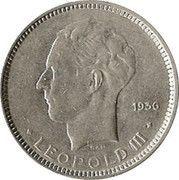 5 Francs - Léopold III (Dutch text) – obverse