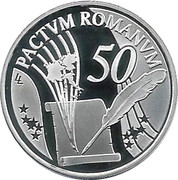 10 Euro - Albert II (Treaty of Rome) -  reverse